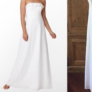 LILLY PULITZER isadora white eyelet maxi dress